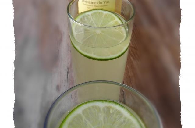 Cocktail sans alcool raisin blanc et citron vert - Photo par audrey bureau