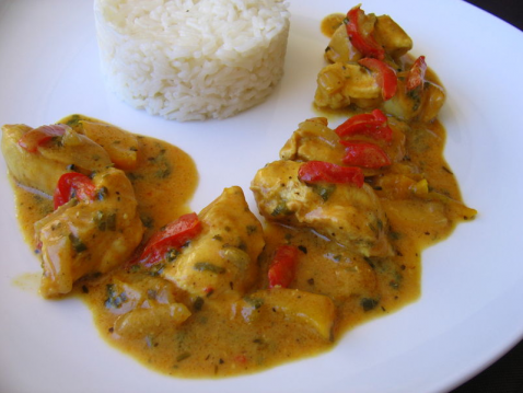 Poulet au curry fruité - Photo par melou9