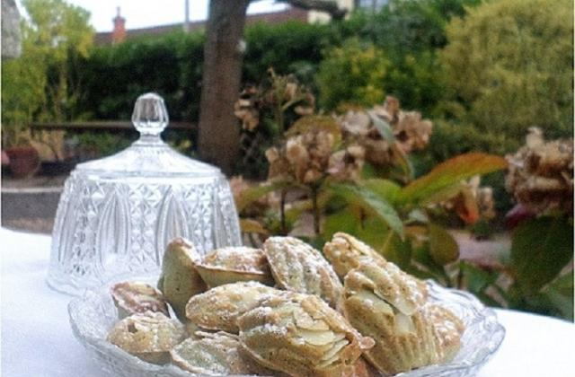 Financiers à la pistache, déguisés en madeleines - Photo par La petite cuisine de Sabine