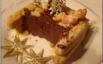 Bûche aux 2 chocolats - Photo par leatitk