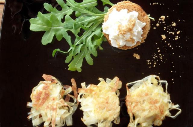 Boudin croustillant et chantilly de Chaource sur pain d'épice - Photo par kalyno