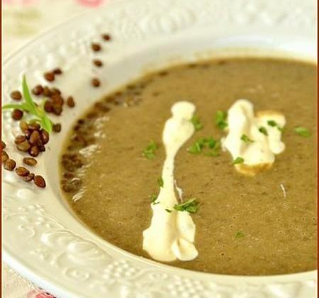 Crème lentilles blondes de Saint-Flour à la verveine - Photo par Chef Damien