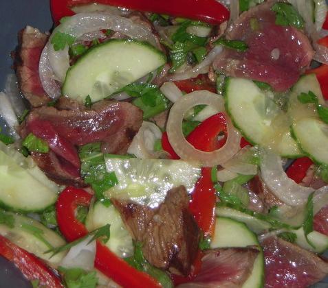 Salade de bœuf à la Thaïlandaise et sa sauce soja - Photo par estelle_cuisine&metissage