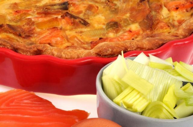 Tarte saumon-poireaux - Photo par Elnora