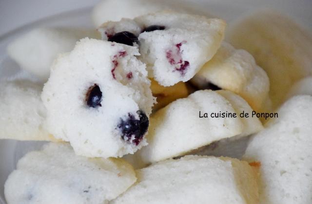 Financier coco et cassis, sans gluten - Photo par Ponpon