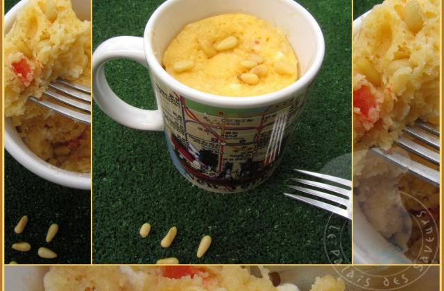 Mug cake poivron, féta, pignons - Photo par vgonza