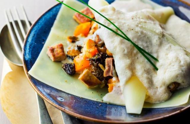 Raviole de Dinde aux Abricots et aux Morilles - Photo par St Mamet