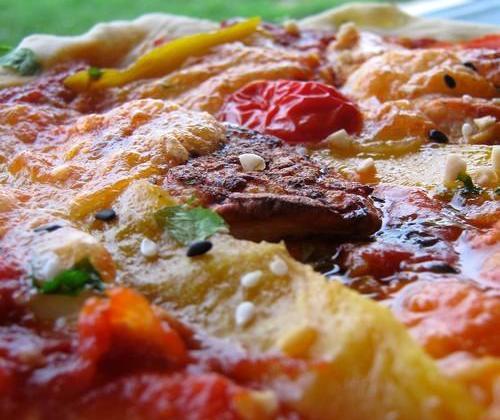 Pizza exotique au poulet grillé - Photo par Alberie26