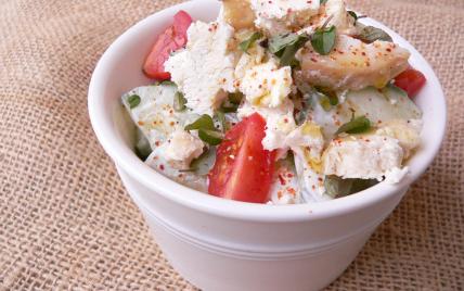 Salade de concombre, chèvre et menthe - Photo par Chef Damien