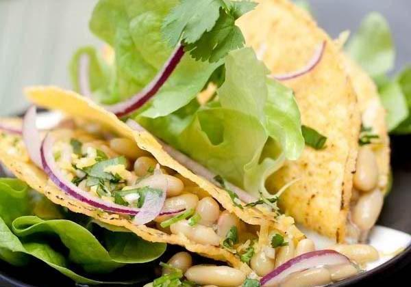 Tacos aux Flageolets et gremolata à la coriandre - Photo par Cassegrain