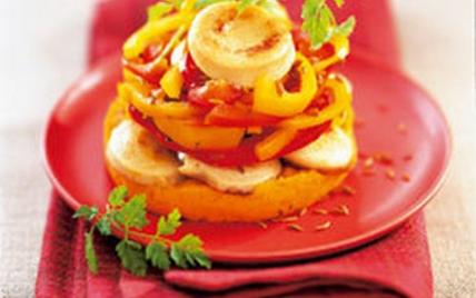 Timbales de boudin blanc, carottes et poivrons - Photo par Le Porc