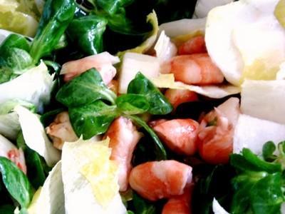 Salade & crevettes au vinaigre d'hibiscus - Photo par dbauja