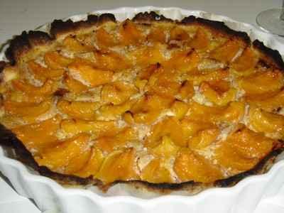 Tarte aux abricots et à la crème de noisettes - Photo par Sophie21