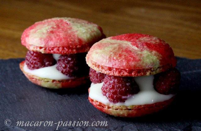 Macarons framboise pistache - Photo par macaron-passion