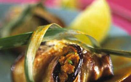 Pannequet de porc aux aubergines, sauce colombo - Photo par Le Porc