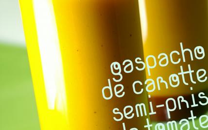 Gaspacho de carottes, semi pris de tomate à l'anis vert - Photo par laurent[blog-moleculaire]