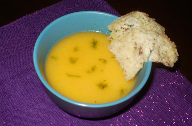 Velouté de potimarron croquants à l'emmental et aux graines de moutarde - Photo par 750g