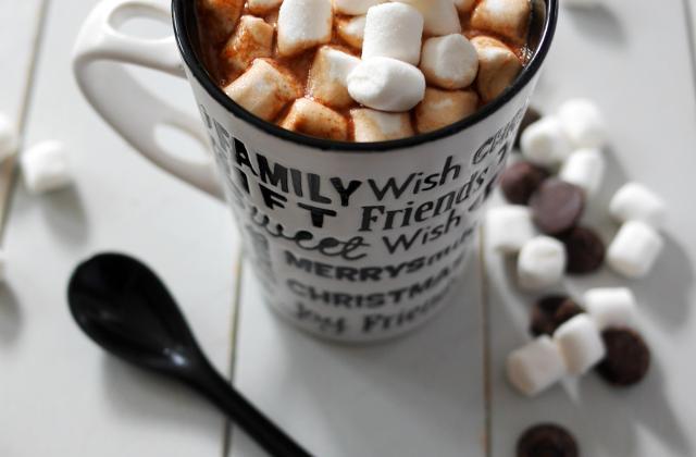 Chocolat chaud aux mini chamallows - Photo par Emmanuelle EVRARD