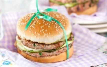 Hamburger d'agneau à la mozzarella - Photo par Agneau Presto