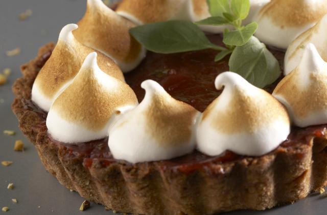 Tartelettes curd de Soupe de fraises et basilic - Photo par Mon dessert de fraises Andros