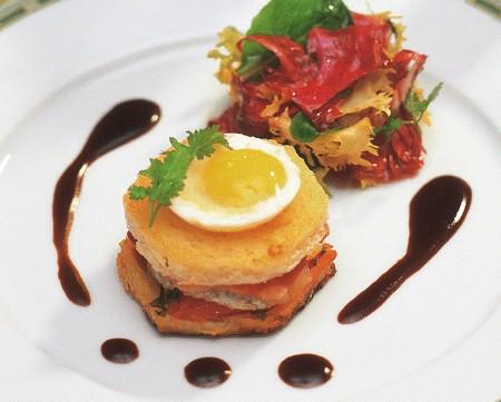 Croque madame au chavignol et œuf de caille - Photo par AOC Chavignol