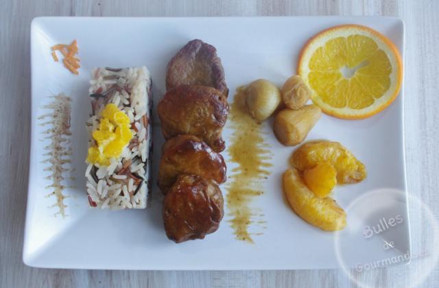 Filet mignon de porc à l'orange, au miel et petits oignons - Photo par Bulles de Gourmandises