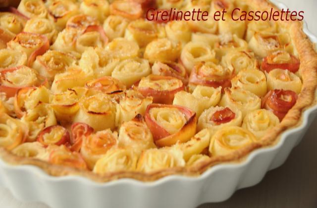 Tarte bouquet de roses ®, d'après Alain Passard - Photo par isa-marie
