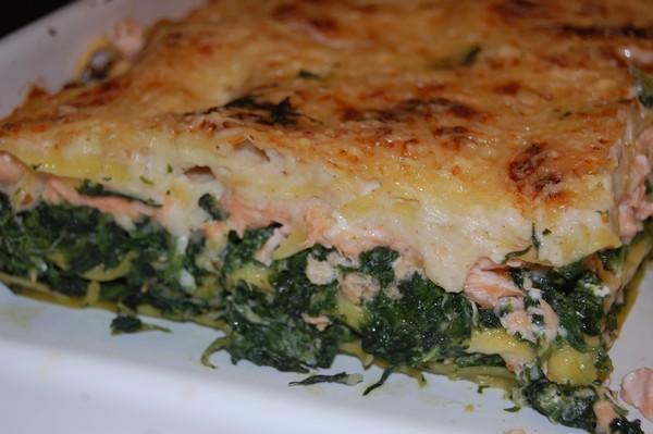 Lasagnes aux épinards et aux 2 saumons - Photo par titecoyote
