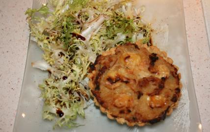 Tartelettes oignons poulet gratinées à la brique président - Photo par jfheun