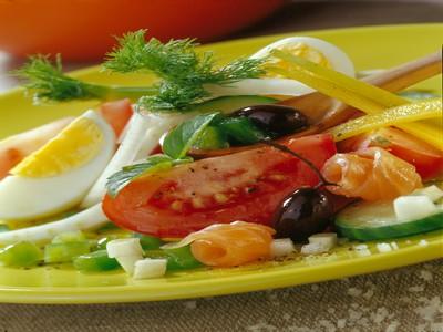 La salade bio façon niçoise - Photo par Printemps Bio