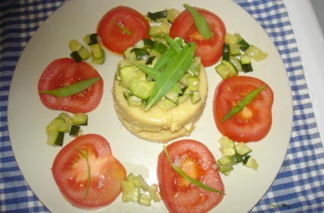 Scones de polenta et sa poêlée de courgettes - Photo par veroni3K