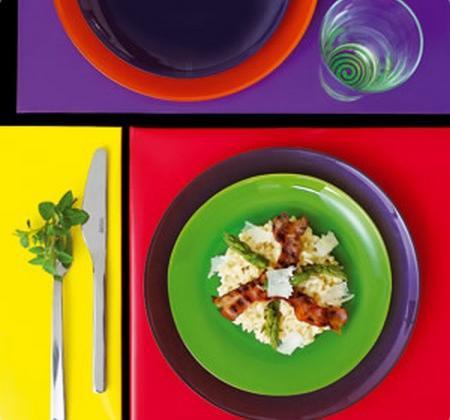 Risotto aux asperges, lard fumé et parmesan - Photo par Luminarc
