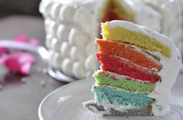 Rainbowcake à la chantilly - Photo par sab974F