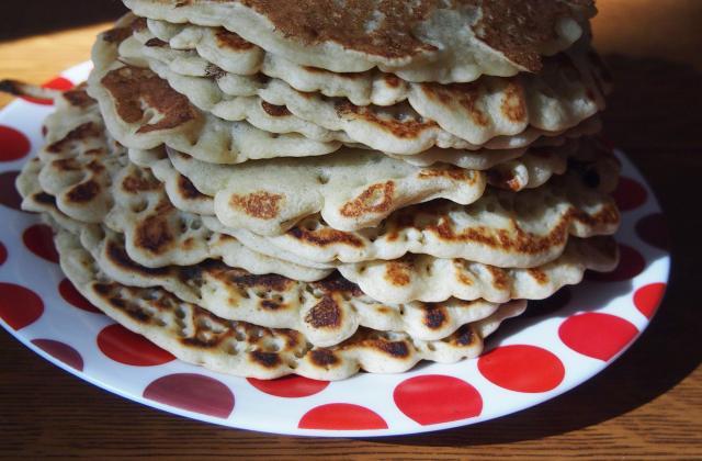Pancakes sans œufs - Photo par rusticooking