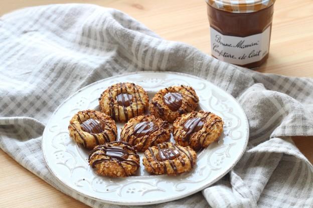 Thumbprint cookies à la confiture de lait - Photo par Silvia Santucci