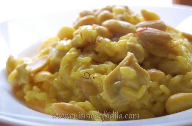 Risotto au poulet, safran et amande - Photo par FadilaB