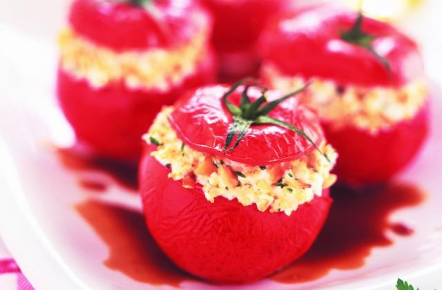 Tomates farcies chèvre et amandes effilées - Photo par Fromages de Chèvre