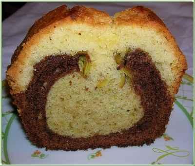 Cake aux 3 couleurs - Photo par Gourmands avec leila