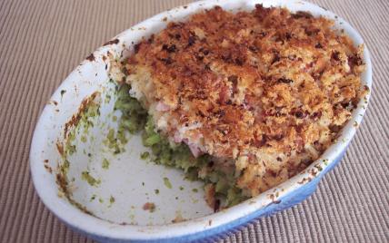 Gratin de brocolis au jambon facile - Photo par Saramaya
