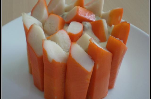 Charlotte aux bâtonnets de surimi et macédoine de légumes - Photo par laura_cookie