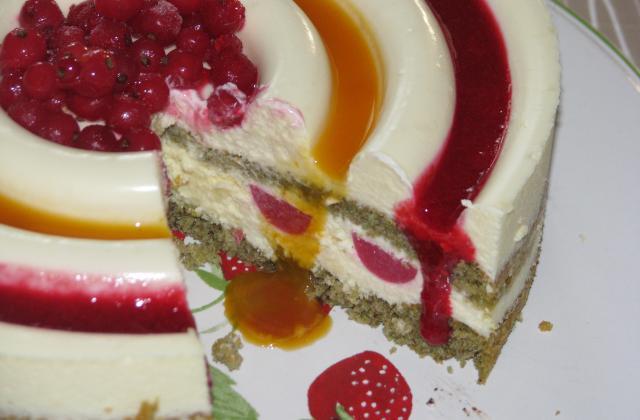 Gâteau mousseux au chocolat blanc et génoise à la pistache - Photo par Membre_246200