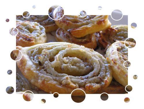 Spirales au roquefort et éclats noix - Photo par LoloTambouille