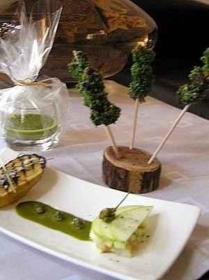Cagouilles aux herbes sauvages, pommes de Terre et crème pistachée - Photo par 750g