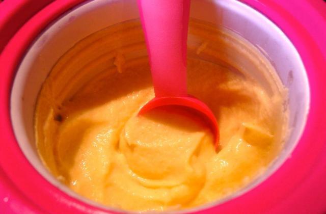 Crème glacée au kaki persimon - Photo par melanie-dudu