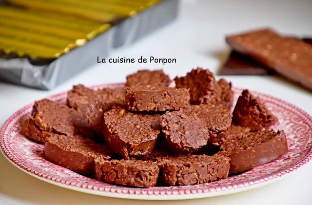 Croustillants au chocolat et gavottes - Photo par Ponpon