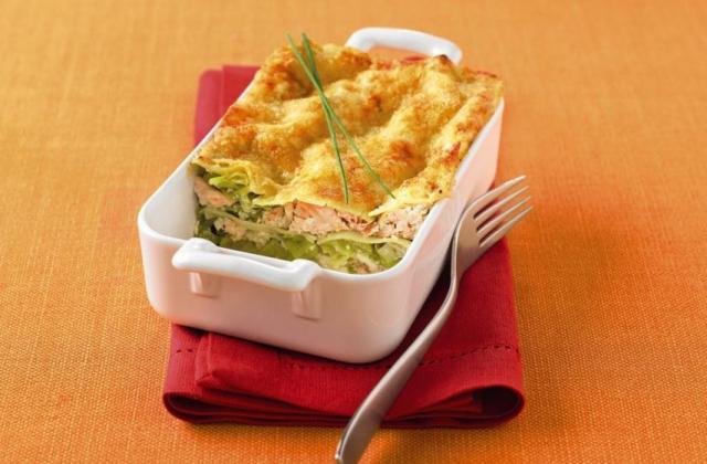 Lasagnes Tofu Soyeux de saumon et poireaux - Photo par Soy