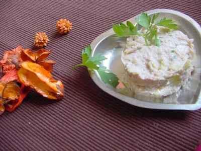 Rillettes de poireau et crabe au noix - Photo par viensd