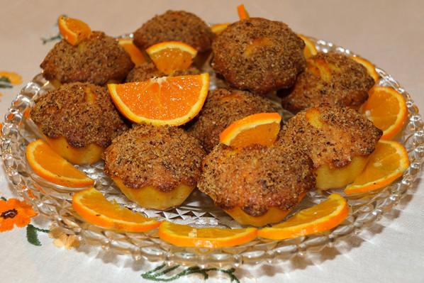 """Muffins à l""""orange et craquelin aux noisettes - Photo par jackieyZ"""