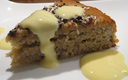Gâteau à la banane, poudre d'amande et fève tonka - Photo par LoloTambouille