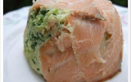 Timbales de courgettes au saumon - Photo par christNwn